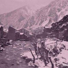 Photographie ancienne: ANDORRA. PUEBLO Y RÍO. VALLE. MONTAÑAS. ABRIL DE 1920. Lote 287141478