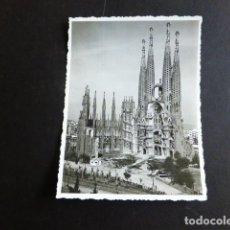 Fotografia antica: BARCELONA LA SAGRADA FAMILIA FOTOGRAFIA ANTIGUA 8,5 X 11 CMTS. Lote 287327463