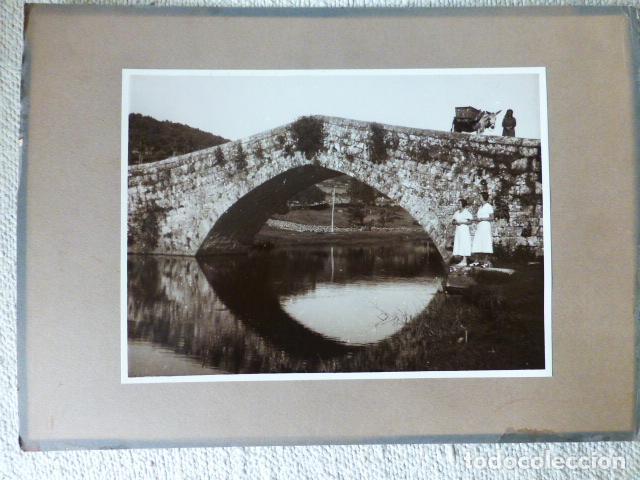 COVALEDA SORIA PUENTE ROMANO MUJERES DE LA FAMILIA HERRERO EMIGRANTES A MEXICO FOTOGRAFIA 17 X 24 (Fotografía Antigua - Gelatinobromuro)