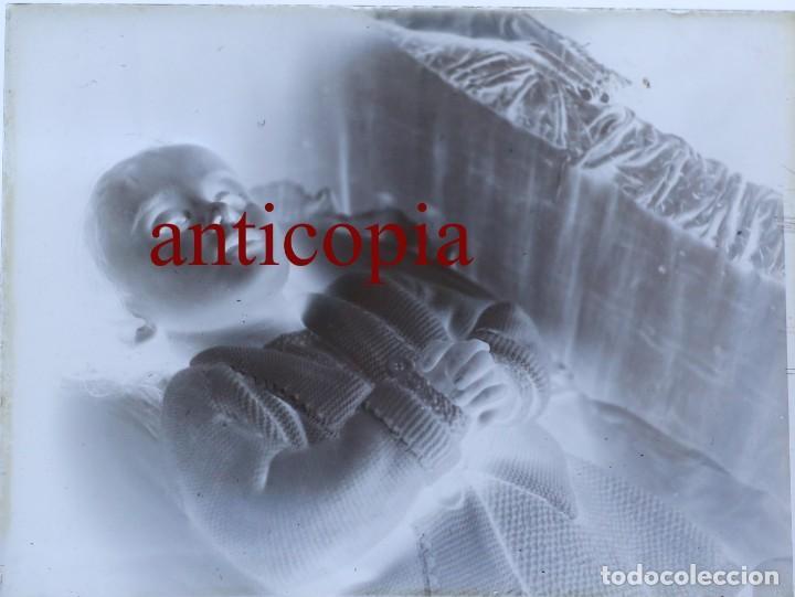 PLACA DE CRISTAL NEGATIVO. POST MORTEM. 9X12 CM NIÑO MUERTO. CIRCA 1904 (Fotografía Antigua - Gelatinobromuro)