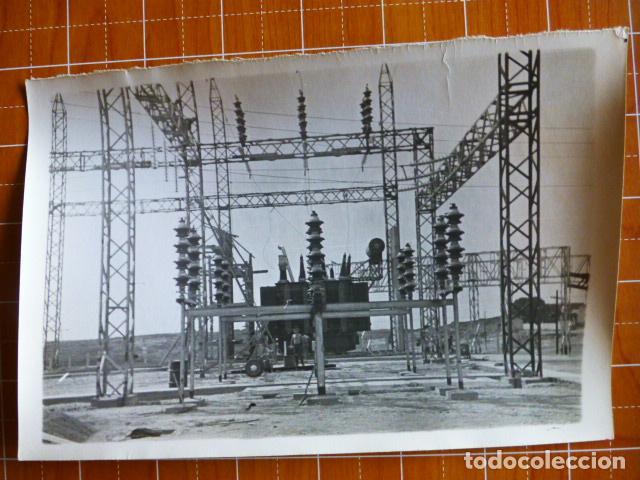TRUJILLO CACERES CONSTRUCCIÓN CENTRAL ELÉCTRICA ZALDIVAR FOTOGRAFO 12 X 18 CTMS (Fotografía Antigua - Gelatinobromuro)