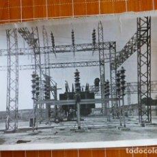 Fotografía antigua: TRUJILLO CACERES CONSTRUCCIÓN CENTRAL ELÉCTRICA ZALDIVAR FOTOGRAFO 12 X 18 CTMS. Lote 287692903