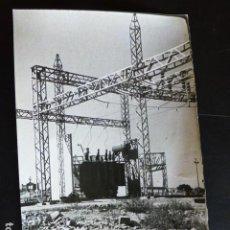 Fotografía antigua: TRUJILLO CACERES CONSTRUCCIÓN CENTRAL ELÉCTRICA ZALDIVAR FOTOGRAFO 12 X 18 CTMS. Lote 287694588