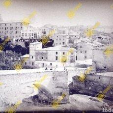 Fotografía antigua: PLACA CRISTAL GELATINO-BROMURO EN NEGATIVO 1920-30 LOCALIDAD A IDENTIFICAR.. Lote 288515458