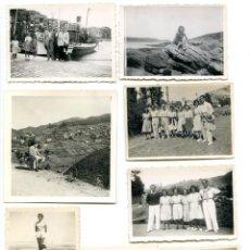 Fotografía antigua: LOTE 8 FOTOS BILBAO Y PAÍS VASCO, DE FAMILIA DE BILBAO. Lote 294491303