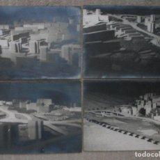 Fotografía antigua: LOTE DE 4 FOTOGRAFÍAS DE MAQUETAS DE URBANISMO ARQUITECTURA DE 18X24 CM. DE UN INGENIERO DE CAMINOS. Lote 294839788