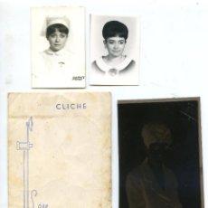 Fotografía antigua: FOTO ESTUDIO SÁEZ DE BILBAO, SOBRE CON CLICHÉ DE RETRATO Y DOS RETRATOS CARNET DE ENFERMERA 1967. Lote 294944493