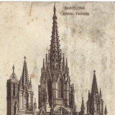 Fotografía antigua: TARJETA POSTAL CATEDRAL DE BARCELONA. Lote 25505113