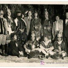 Fotografía antigua: CARNAVAL. GRUPO DE SEÑORES DISFRAZADOS. CIRCA 1930. BCN. Lote 25454958