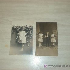 Fotografía antigua: LOTE 2 POSTALES FOTOGRAFICAS,ROMANTICAS. Lote 11988055