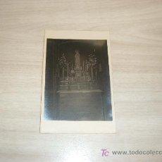 Fotografía antigua: POSTAL FOTOGRAFICA ALTAR. Lote 12876275