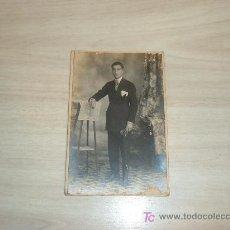 Fotografía antigua: TARJETA POSTAL FOTOGRAFICA CABALLERO. Lote 6965140