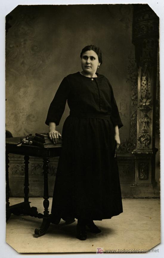 JUMILLA. MURCIA. ELEGANTE FOTO DE SEÑORA. SIN AUTORÍA. CIRCA 1910. (Fotografía Antigua - Tarjeta Postal)