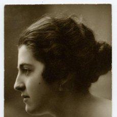 Fotografía antigua: FANTÁSTICA FOTOGRAFÍA DE PERFIL DE CARMEN. SAN SEBASTIAN. F: WILLY KOCH. 1918. Lote 26051778