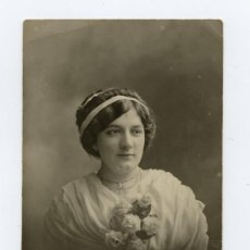 Fotografía antigua: BELLÍSIMO RETRATO MODERNISTA DE MUCHACHA. FOT. A.GARCIA. PRINCIPIOS DE S. XX. CIRCA 1910.. Lote 20473089