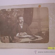 Fotografía antigua: ANTIGUA FOTO DE CABALLERO- (12 X 8.5 CM)-. Lote 16236603
