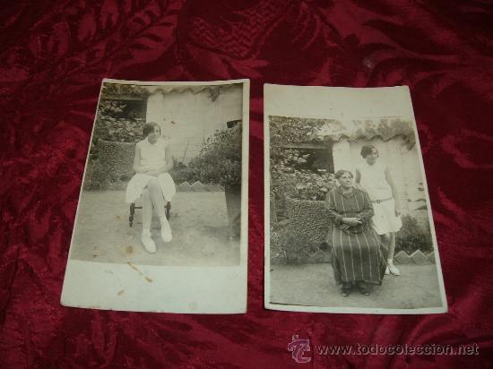 LOTE 2 TARJETAS POSTALES FOTOGRAFICAS,PERSONAJES 1920-30 (Fotografía Antigua - Tarjeta Postal)