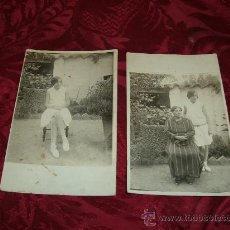 Alte Fotografie - lote 2 tarjetas postales fotograficas,personajes 1920-30 - 9587642