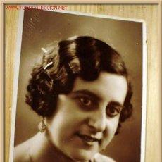 Fotografía antigua: ANTIGUA FOTOGRAFÍA-POSTAL DE CHICA, FOTÓGRAFO ESQUEMBRE DE ELCHE. AÑOS 50.. Lote 1042936