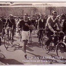 Fotografía antigua: DEPORTE. BARCELONA, ROMAN CASTELLTORT, CAMPEÓN DE ESDPAÑA DE MARCHA. 1930'S. Lote 13873141