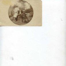 Fotografía antigua: DOS SEÑORAS Y UN SEÑOR - 13.50 X 8.50 - . Lote 10986956