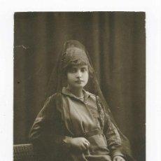 Fotografía antigua: JOVEN DAMA. MAGNÍFICA FOT DE SEÑORITA. F: RENOM. BARCELONA. CIRCA 1915. Lote 25147158