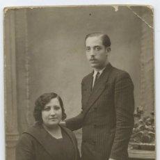Fotografía antigua: PAREJA. FOTOGRAFÍA ROVIRA. BARCELONA. CIRCA 1920. Lote 12732944