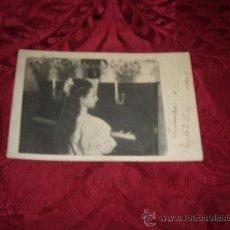 Fotografía antigua - postal fotografica niña tocando el piano 1909 - 12735112
