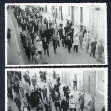 Fotografía antigua: BCN. SANTS. LOTE 2 FOTOS *ASSC. ANTIGUOS ALUMNOS COLEGIO SGDO. CORAZON - HH. MARISTAS DE SANS*. Lote 12923006