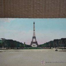 Fotografía antigua: ANTIGUA TARJETA POSTAL PANORAMICA TORRE EIFFEL PARIS CIRCULADA 1959. Lote 19360965