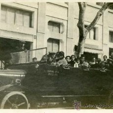 Fotografía antigua: FOTOGRAFIA DE COCHE ANTIGUO COMMER DEL GARAGE VILA DE BARCELONA. Lote 13640949