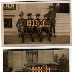 Fotografía antigua: MILITARES REPUBLICANOS - 2 POSTALES FOTOGRÁFICAS . Lote 27299514