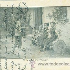 Fotografía antigua: GRUPO DE NIÑOS CANTANDO - PRIMERA MITAD DE SIGLO XX - NO CIRCULADA - ESCRITA EN CATALÁN. Lote 27588353
