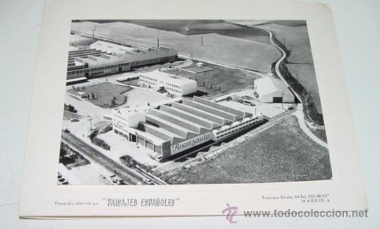 Antigua fotografia aerea de la fabrica finanzau comprar - Ciudad pegaso madrid ...