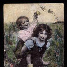 Fotografía antigua: POSTAL PUBLICIDAD Y EDITADA POR CHOCOLATE ATMETLLER BARCELONA ESCRITA EL AÑO 1921. Lote 18061168