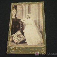 Fotografía antigua: SEÑORITA EN ALTAR - . Lote 18440157