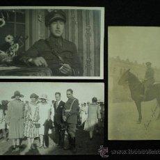 Fotografía antigua: TARJETAS POSTALES FOTOGRÁFICAS. LOTE. 3 FOTOGRAFÍAS. MILITARES ANÓNIMOS. AÑOS 20.. Lote 20724979