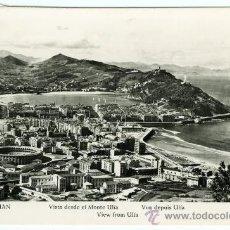Fotografía antigua: TARJETA POSTAL FOTO MANIPEL SAN SEBASTIAN VISTA DESDE EL MONTE ULIA SIN CIRCULAR. Lote 26166638