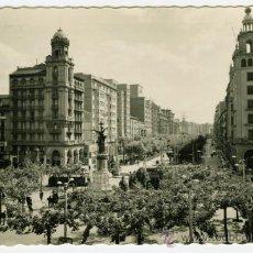 Fotografía antigua: TARJETA POSTAL EDICIONES GARCIA GARRABELLA ZARAGOZA PLAZA ESPAÑA Y PASEO INDEPENDENCIA. Lote 26140058