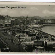 Fotografía antigua: TARJETA POSTAL G ALSINA SAN SEBASTIAN VISTA GENERAL DEL MUELLE SIN CIRCULAR. Lote 26327192
