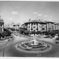 Fotografía antigua: TARJETA POSTAL EDICIONES SICILIA ZARAGOZA PAMPLONA PLAZA GENERAL MOLA AVENIDA CARLOS III SIN CIRCULA. Lote 26253370