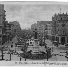 Fotografía antigua: TARJETA POSTAL EDICIONES ARRIBAS ZARAGOZA PASEO DE LA INDEPENDENCIA SIN CIRCULAR. Lote 27111965