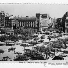 Fotografía antigua: TARJETA POSTAL EDICIONES SICILIA ZARAGOZA PAMPLONA PLAZA DEL CASTILLO SIN CIRCULAR. Lote 27436763