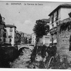 Fotografía antigua: TARJETA POSTAL ABELARDO LINARES GRANADA CARRERA DEL DARRO. Lote 26327199