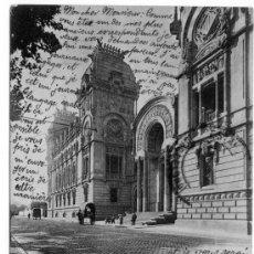 Fotografía antigua: TARJETA POSTAL FOTOTIPIA HAUSER Y MENET BARCELONA PALACIO DE JUSTICIA. Lote 26290662