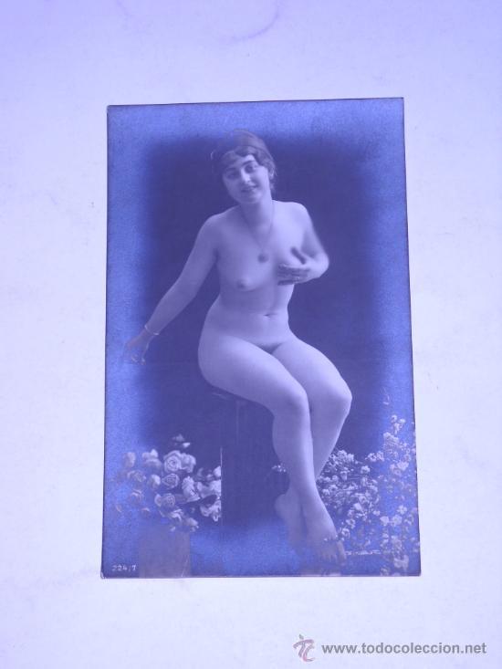 EROTICA.FOTOGRAFIA DESNUDO FEMENINO EN TARJETA TIPO POSTAL 224/7. (Fotografía Antigua - Tarjeta Postal)