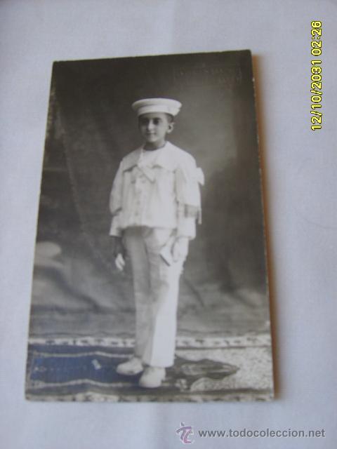 NIÑO 1ª COMUNIÓN (Fotografía Antigua - Tarjeta Postal)
