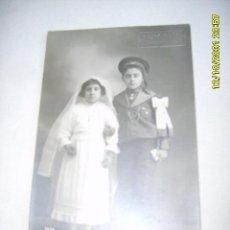 Fotografía antigua: HERMANOS 1ª COMUNIÓN. Lote 24792898