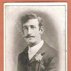 Fotografía antigua: FOTO POSTAL RETRATO DE UN CABALLERO CON BIGOTE SIN CIRCULAR.. Lote 27243395