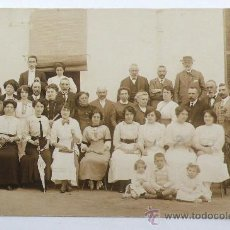 Fotografía antigua: SANT HILARI SACALM, RETRATO DE GRUPO, 1911. Lote 24400850
